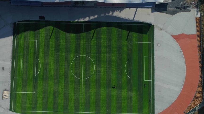 校园鸟瞰-足球场