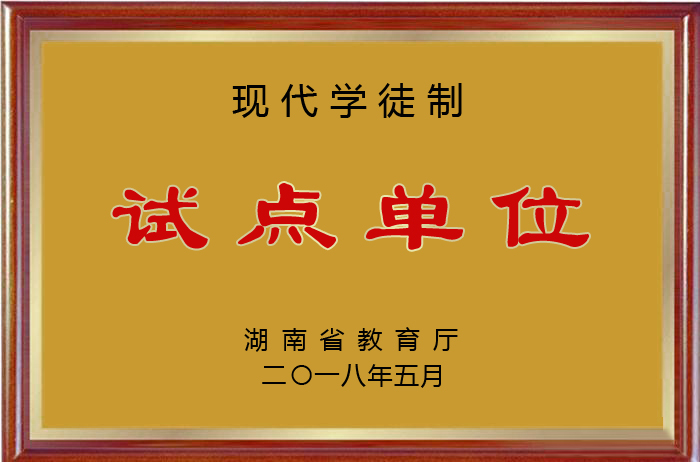 湖南省现代学徒制试点单位